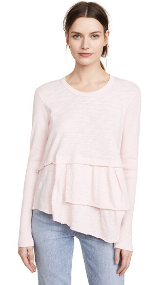 layered pretty pink top