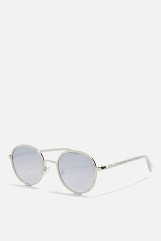 preppy sunglasses white
