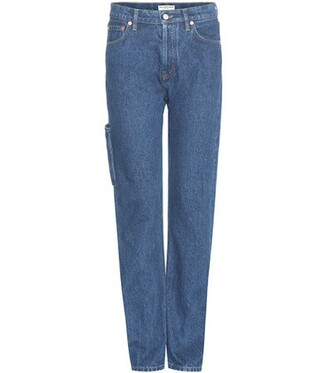 jeans straight jeans high classic blue