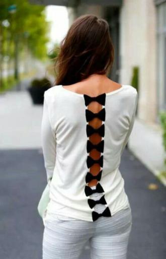 t-shirt bows bow shirt cute shirt