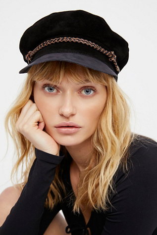 Kayla Leather Lieutenant Hat
