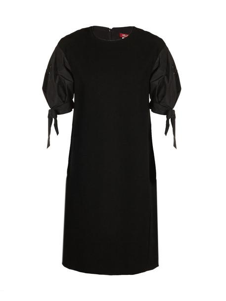 Max Mara Studio Structured Sleeves Dress in nero