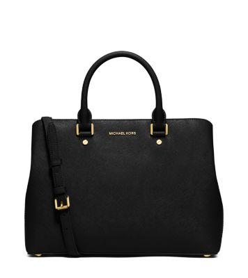 savannah large saffiano leather satchel michael kors. Black Bedroom Furniture Sets. Home Design Ideas