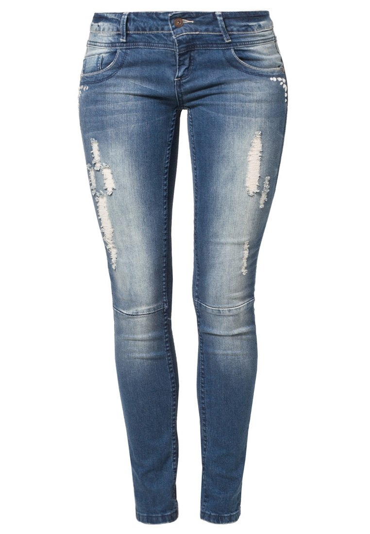 Fresh Made Jeans Slim Fit - middle blue denim - Zalando.de