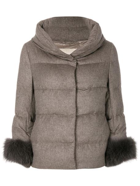 jacket fur fox women nude silk
