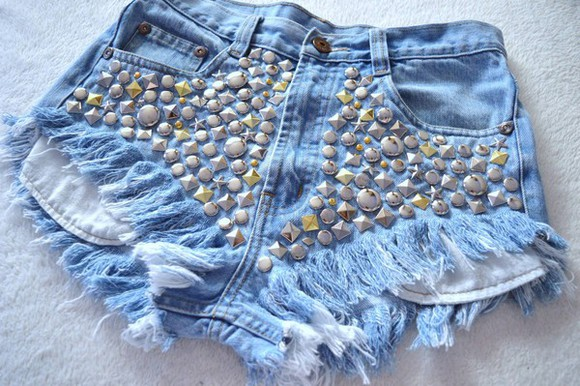 shorts jeans denim vintage studs levi ripped shorts destroyed shorts