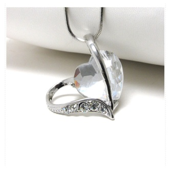 jewels clear heart necklace jewelry accessories heart jewelry