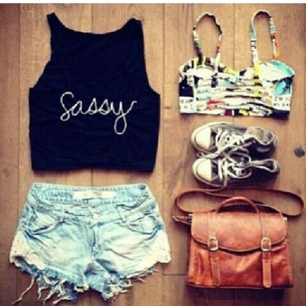 t-shirt sassy t-shirt shoes bag