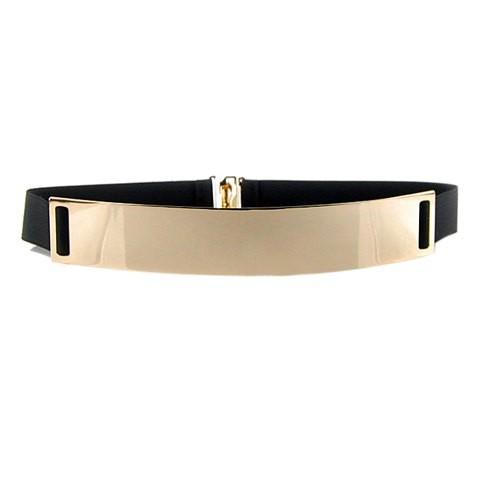 Metal front belt