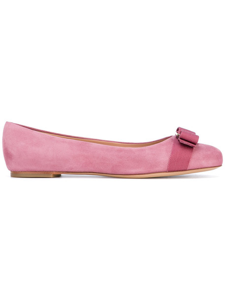 Salvatore Ferragamo women shoes leather purple pink