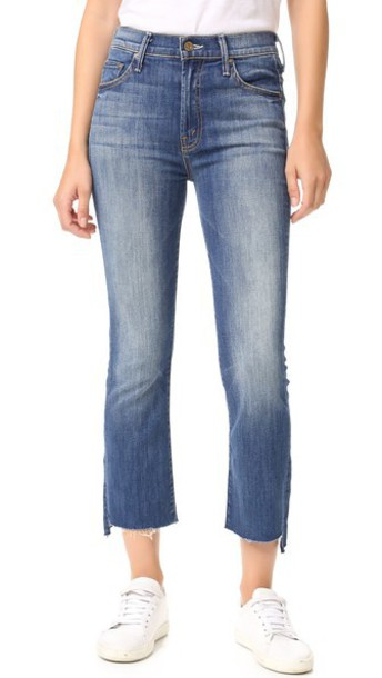 Mother The Insider Crop Step Fray Jeans - Not Rough Enough