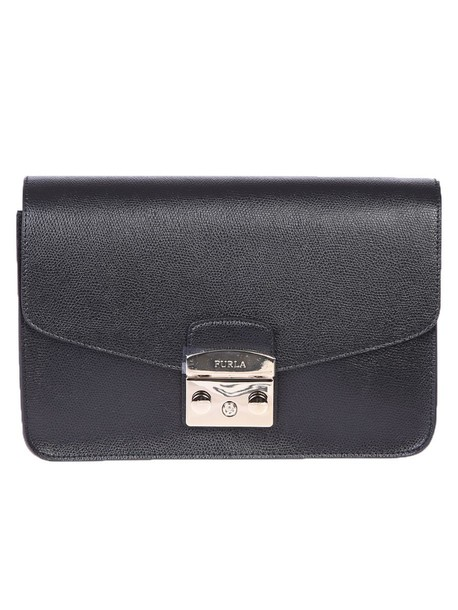 Furla bag shoulder bag leather black