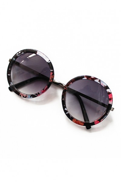 KCLOTH Retro Floral Printed Sunglasses