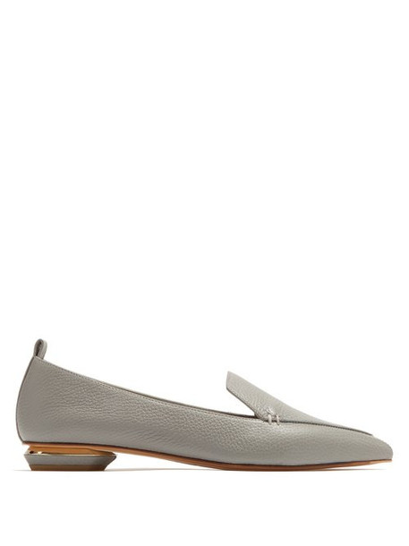 Nicholas Kirkwood - Beya Grained Leather Loafers - Womens - Grey