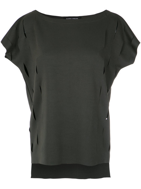 Gloria Coelho top women spandex grey