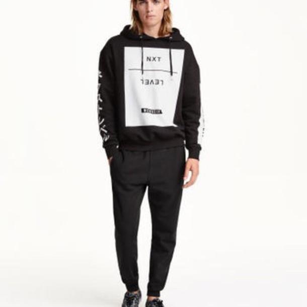 Sweater H Amp M Black Hoodie Divided Japanese Hoodie