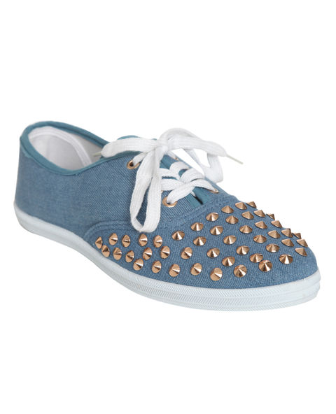 Studded Tennis Shoe - WetSeal