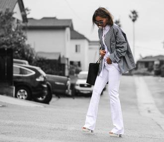 different cands blogger shirt jeans jacket bag