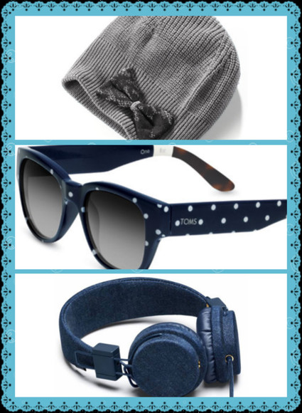 headphones hat sunglasses