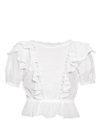 top lace cotton white