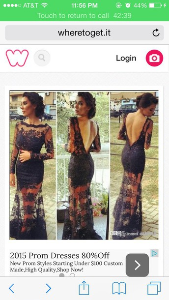 dress a long black lace dress