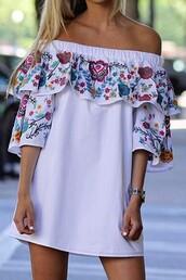 dress,a line dress,ruffle dress,shift dress,causal dress,floral,floral dress,printed dress