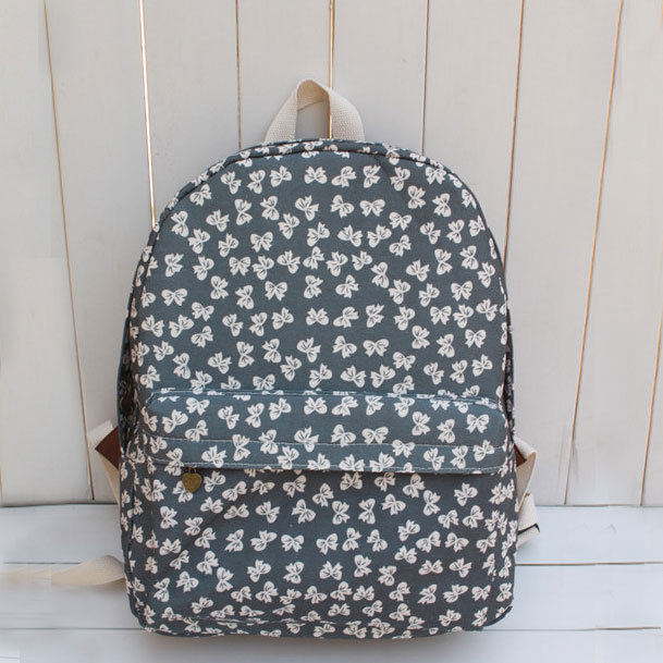[grhmf2200088]Cute Fantasy Series Butterfly Print Canvas Backpack