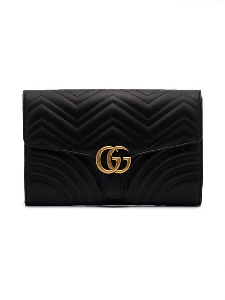 gucci women clutch leather black bag