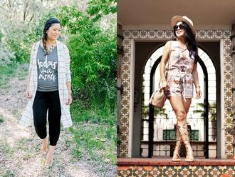 sandy a la mode blogger t-shirt jacket pants jewels shoes
