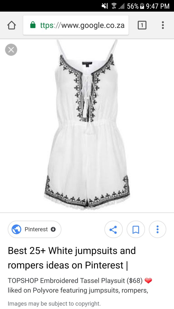 jumpsuit black white playsuit white romper embroidered playsuit festival