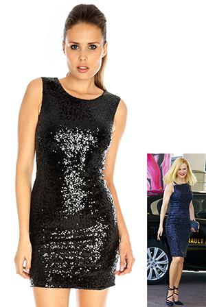 Sequin Sheath Dress in the style of Nicole Kidman