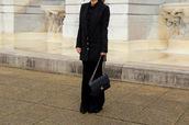 kelpas diary,blogger,sunglasses,chanel,black bag,shoulder bag,black blazer,black pants,all black everything