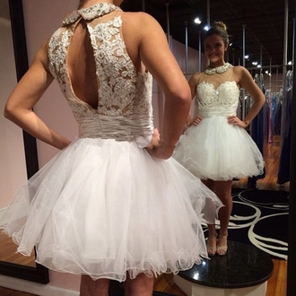 dress prom prom dress mini mini dress white white dress prom beauty lace lace dress tulle skirt tulle dress fashion style stylish fashionista pretty cool cute cute dress love gow gown short short dress sweetheart dress sexy