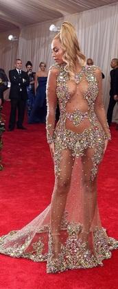 dress,beyonce,mesh,sequins,gold,multicolor