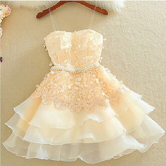 dress bow lacy dress white dress cream dress