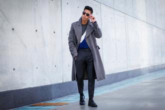 closet freaks blogger sunglasses coat sweater pants shoes