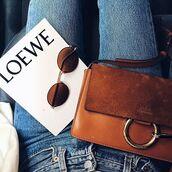 bag,tumblr,brown bag,chloe,chloe bag,sunglasses