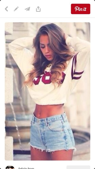 sweater white crop tops baseball jersey tumblr found on pintrest