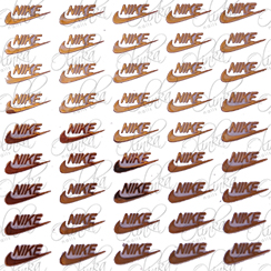 Sticker Nike Dorado, Olinka Nails || Accesorios y Decoracion de Uñas