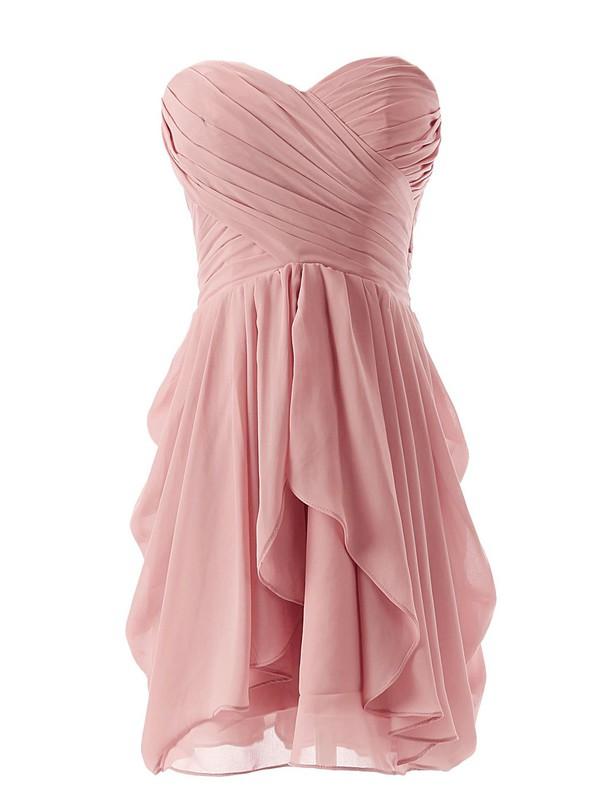 homecoming dress short chiffon bridesmaid dress blush bridesmaid dress new homecoming dress 2014 homecoming dress