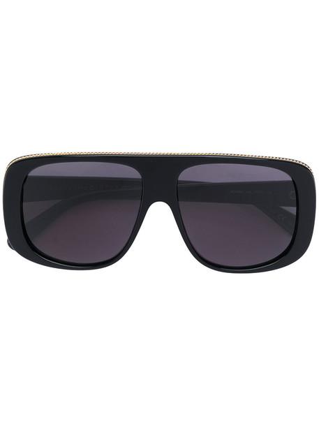 Stella Mccartney Eyewear - oversized sunglasses - women - Acetate - 57, Black, Acetate