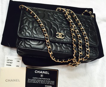 93322631c379 Chanel Limited Edition Camellia Lambskin Wallet On Chain Gold Hardware  Shoulder Bag