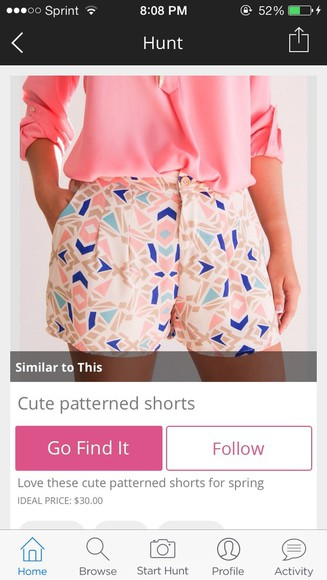 pink blue patterned blouse summer pattern spring shorts flowy pink blouse