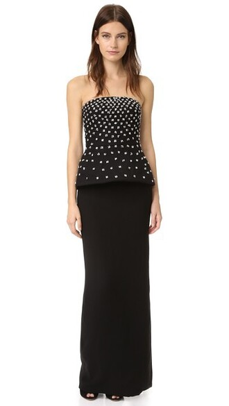 gown strapless noir dress