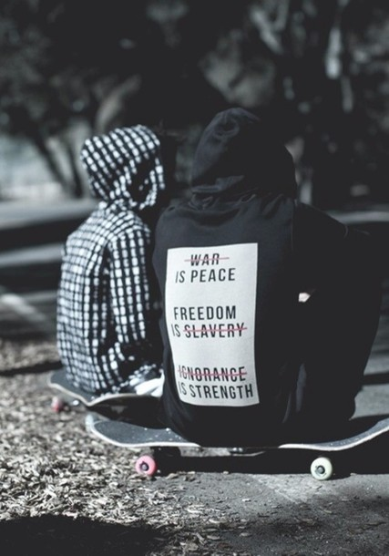 Jacket: skater, menswear, black, quote on it, tumblr ...