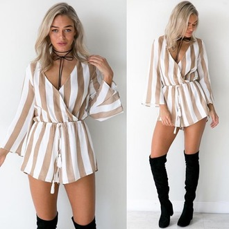 romper girl girly girly wishlist stripes cute shorts romper style
