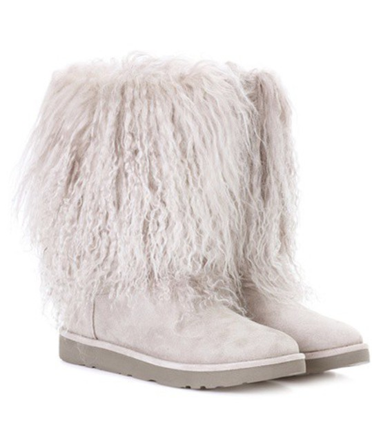 UGG Australia suede ankle boots fur ankle boots suede grey shoes
