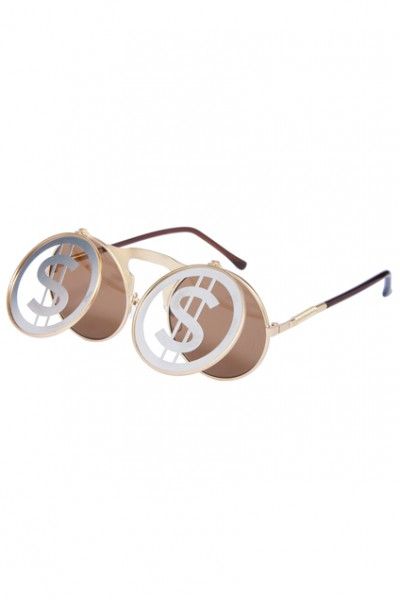 KCLOTH Money Symbol Hollow-out Double-layered Sunglasses