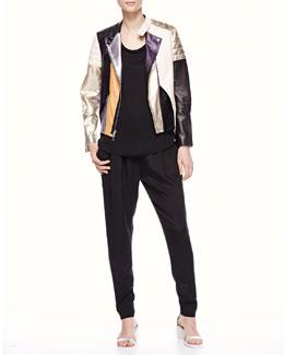 Phillip Lim Dress & Phillip Lim Leather Jacket | Neiman Marcus