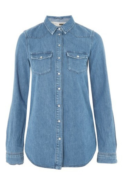 Topshop shirt denim shirt denim top